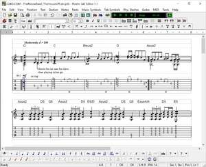 Musical Instrument Software - Screenshot for Power Tab Editor