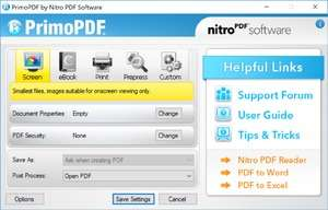 PDF Tools - Screenshot for PrimoPDF
