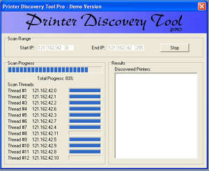 Printer Discovery Tool Screenshot