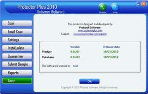 Protector Plus Antivirus Screenshot
