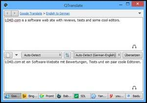 Language and Translator Programs - Screenshot for QTranslate Portable