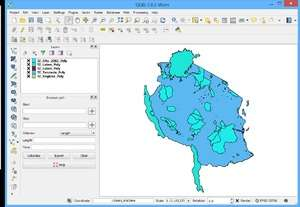 Mapping Software - Screenshot for Quantum GIS