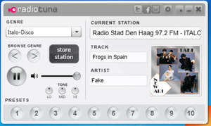 RadioTuna Desktop Screenshot