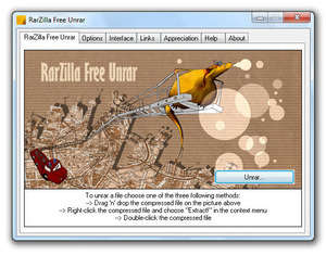 RarZilla Free Unrar Screenshot