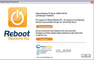 Windows Startup Optimizers - Screenshot for Reboot Restore Rx