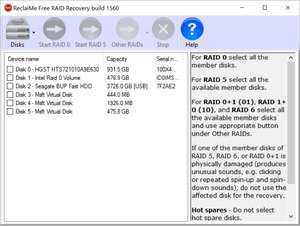 File Recovery Programs - Screenshot for ReclaiMe Free RAID Recovery