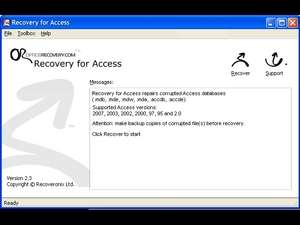 Recovery for Access Screenshot