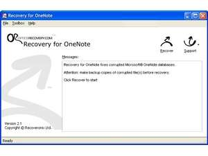 Recovery for OneNote Screenshot