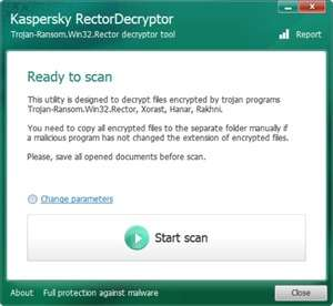 Antivirus Software - Screenshot for RectorDecryptor