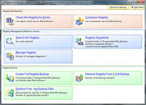 Registry First Aid Screenshot