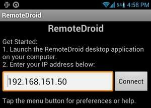Remote Desktop Programs - Screenshot for RemoteDroidServer