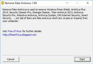 Remove Fake Antivirus Screenshot