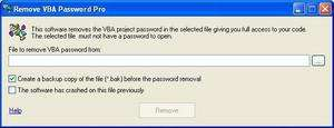 Remove VBA Password Screenshot