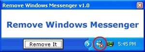 MSN Messenger Removal Tool Screenshot