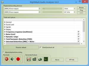 RightMark Audio Analyzer Screenshot