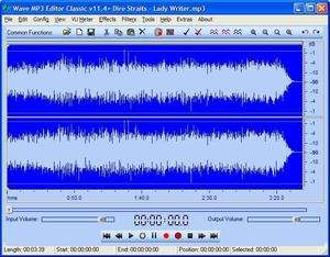 WAV MP3 Editor Screenshot