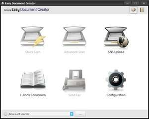 Samsung Easy Document Creator Screenshot