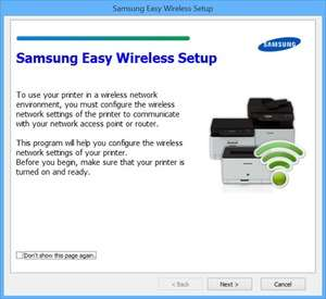 Samsung Easy Wireless Setup Screenshot