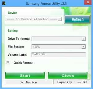 Format tools - Screenshot for Samsung Format Utility