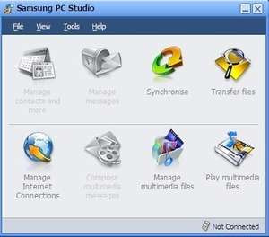 Samsung PC Studio II Screenshot
