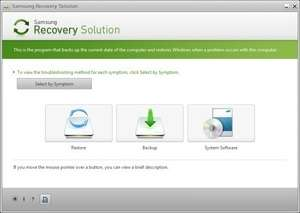 Samsung Recovery Solution Screenshot