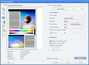 Printing Programs - Screenshot for Samsung Scan Assistant
