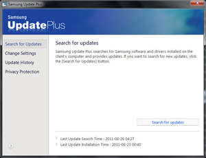 Samsung Update Plus Screenshot