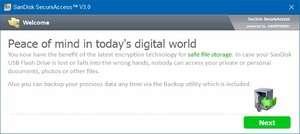 SanDisk SecureAccess Screenshot