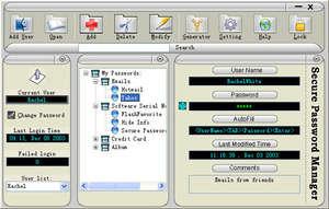 Secure Password Manager Screenshot