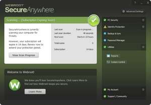 SecureAnywhere AntiVirus Screenshot