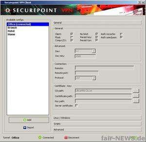 Securepoint Personal VPN Client Screenshot