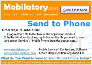 Ringtone Software - Screenshot for Send To Phone
