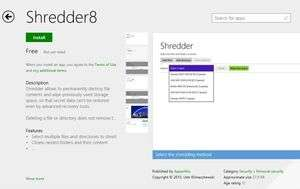 Shredder8 for Windows 8 Screenshot