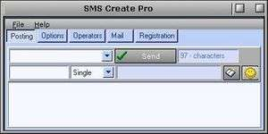 SMS Create Pro Screenshot