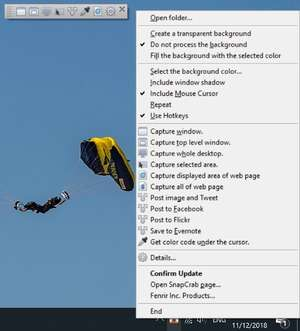 SnapCrab for Windows Screenshot