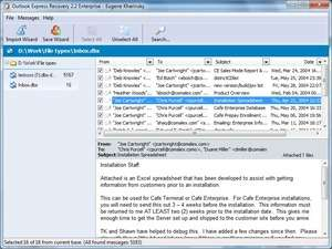 SoftAmbulance 4 Outlook Express Screenshot