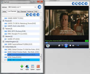 Internet TV Players - Screenshot for SopCast