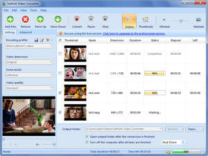 Media Converters - Screenshot for Sothink Free Video Converter