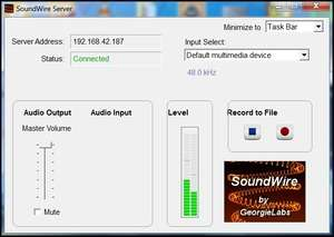 SoundWire Server Screenshot