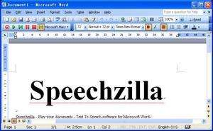 SpeechZilla Screenshot
