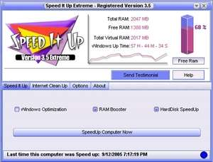 Memory Tweaks - Screenshot for SpeedItUp Extreme - Free Speed Booster