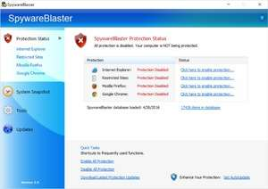 SpywareBlaster Screenshot