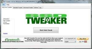 SSD Tweaker Screenshot
