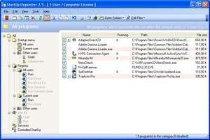 StartUp Organizer Screenshot