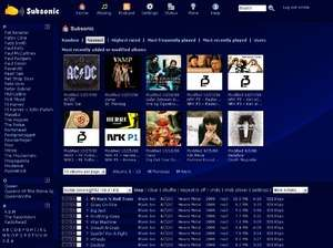Media Servers - Screenshot for Subsonic
