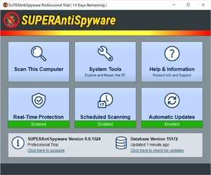 SUPERAntiSpyware Pro Screenshot