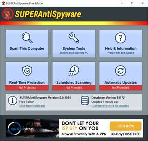 Spyware Removal - Screenshot for SUPERAntiSpyware Free