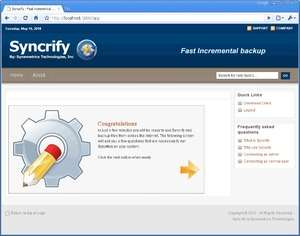 Backup Utilities - Screenshot for Syncrify
