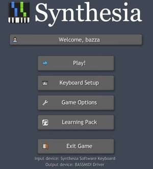 Music Software - Screenshot for Synthesia