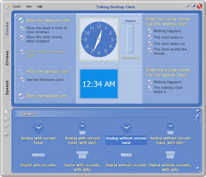 Clocks Organizers Calendars - Screenshot for Talking Desktop Clock